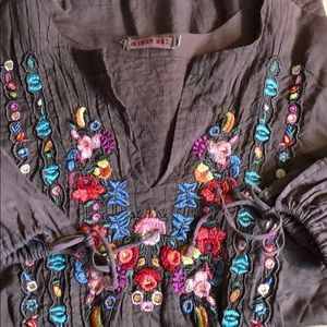 Johnny Was Embroidered Peasant Blouse *beautiful!